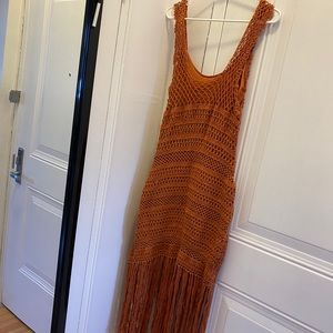 Zara Macrame Fringe Dress